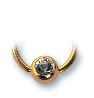 Piercingring in Gold.