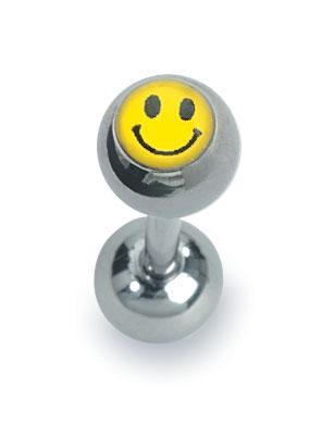 Zungenpiercing  Zungenball mit Titanstab