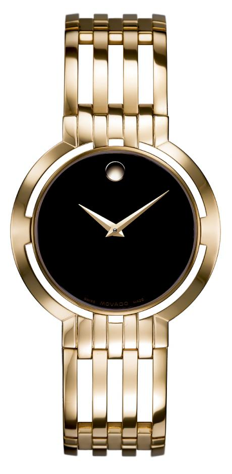 movado esperanza gold-platet men's