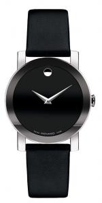 Movado sapphire black sheep leather strap