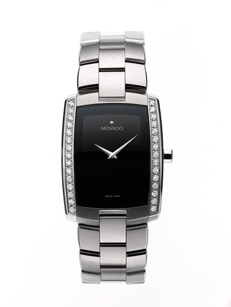 Movado eliro steel men's diamonds