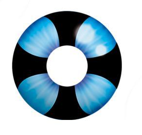 Dilly Eyes - Blue Velvet - getönte Kontaktlinse.