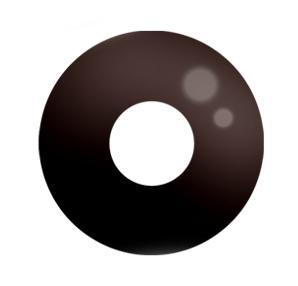 Dilly Eyes - Black Eye - getönte Kontaktlinse.