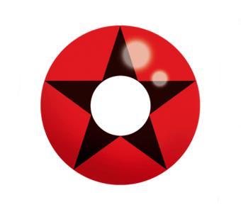 Dilly Eyes - Black Star Red - getönte Kontaktlinse