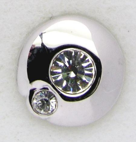 Screwbidoo Bauchpiercing Kreis mit 2 Steinen 3591