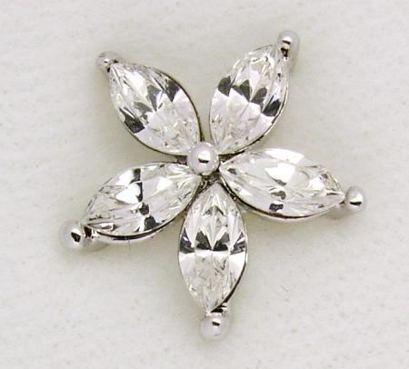 Screwbidoo Bauchpiercing5 Steine Blume 4692