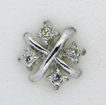 Screwbidoo Bauchpiercing 4 Steine Kreuz 3632