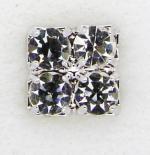 Screwbidoo Bauchpiercing Quadrat mit 4 Steinen 3643