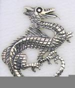 Screwbidoo Bauchpiercin Silver Dragon 0052